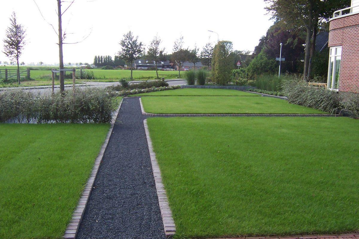 Landelijke moderne tuin